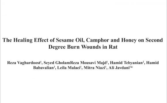 The Healing Effect of Sesame Oil, Camphor and Honey on Second Degree Burn Wounds in Rat