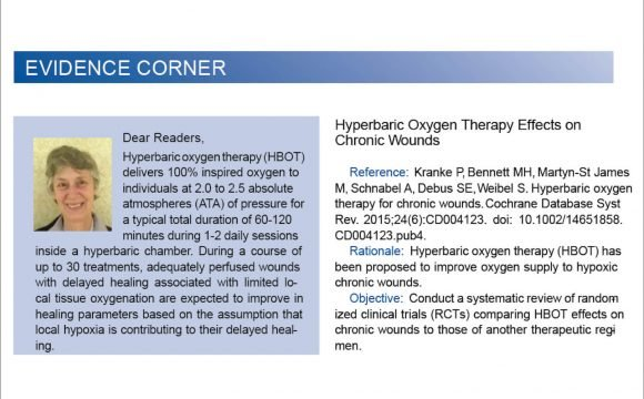 Hyperbaric Oxygen Therapy Effects on Chronic Wounds